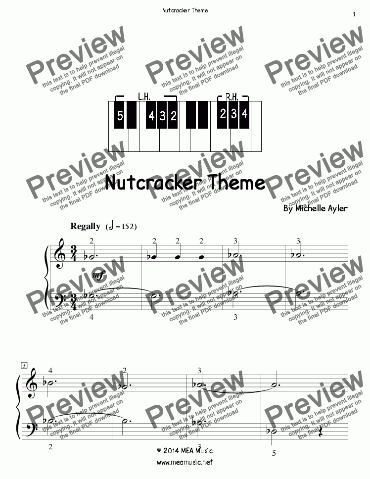page one of Nutcracker Theme