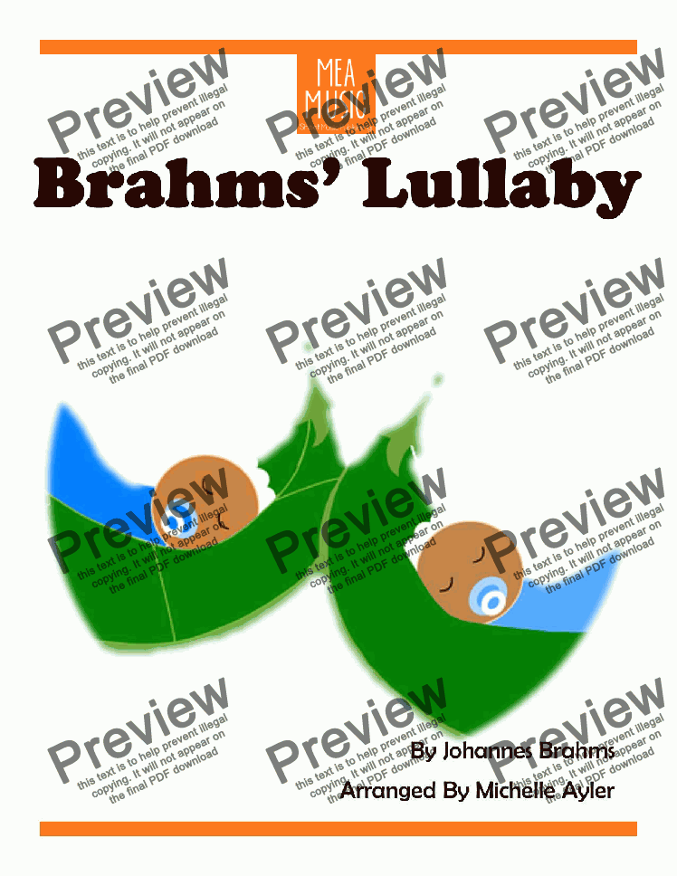 page one of Brahm's Lullaby