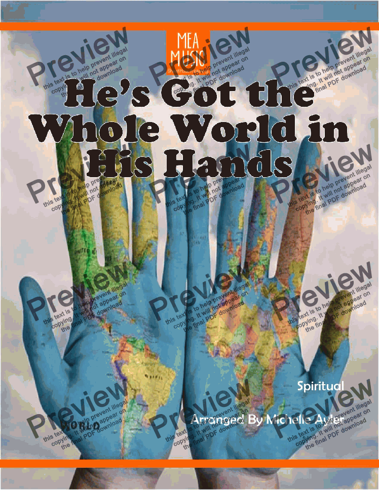 page one of He's Got the Whole World in His Hand
