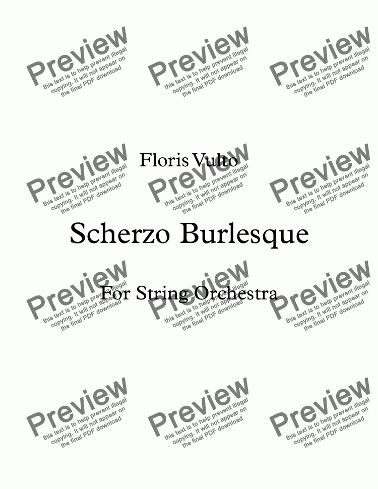 page one of Scherzo Burlesque