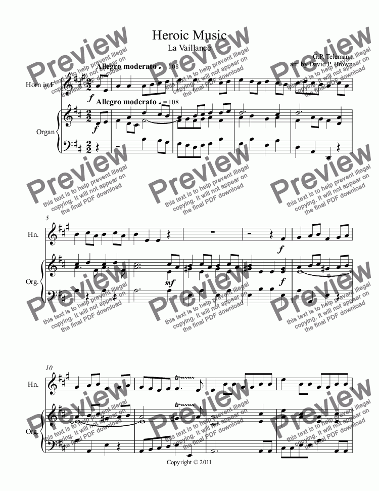 page one of Heroic Music III for Horn Solo (in F)