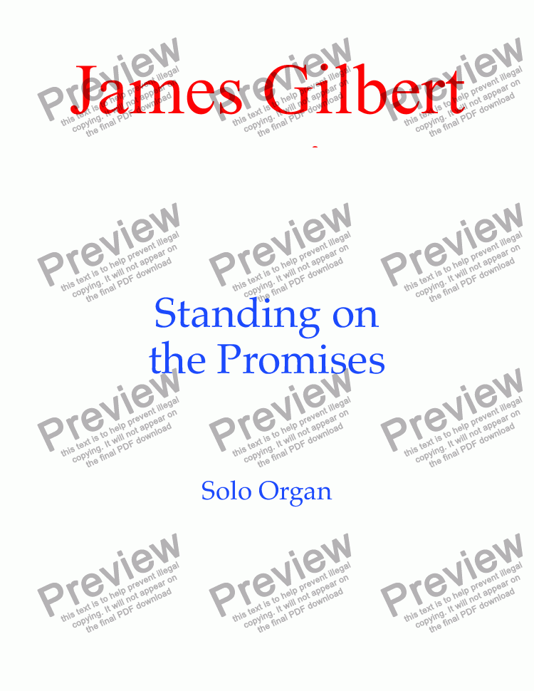page one of Standing On The Promises