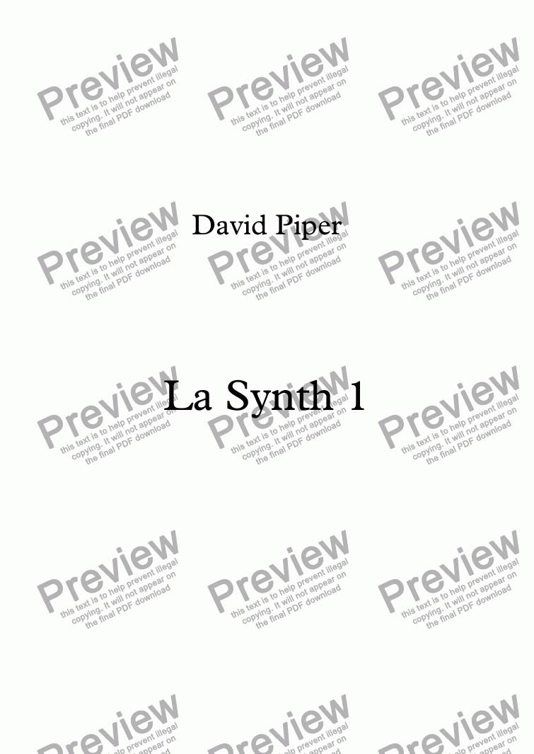 page one of La Synth 1