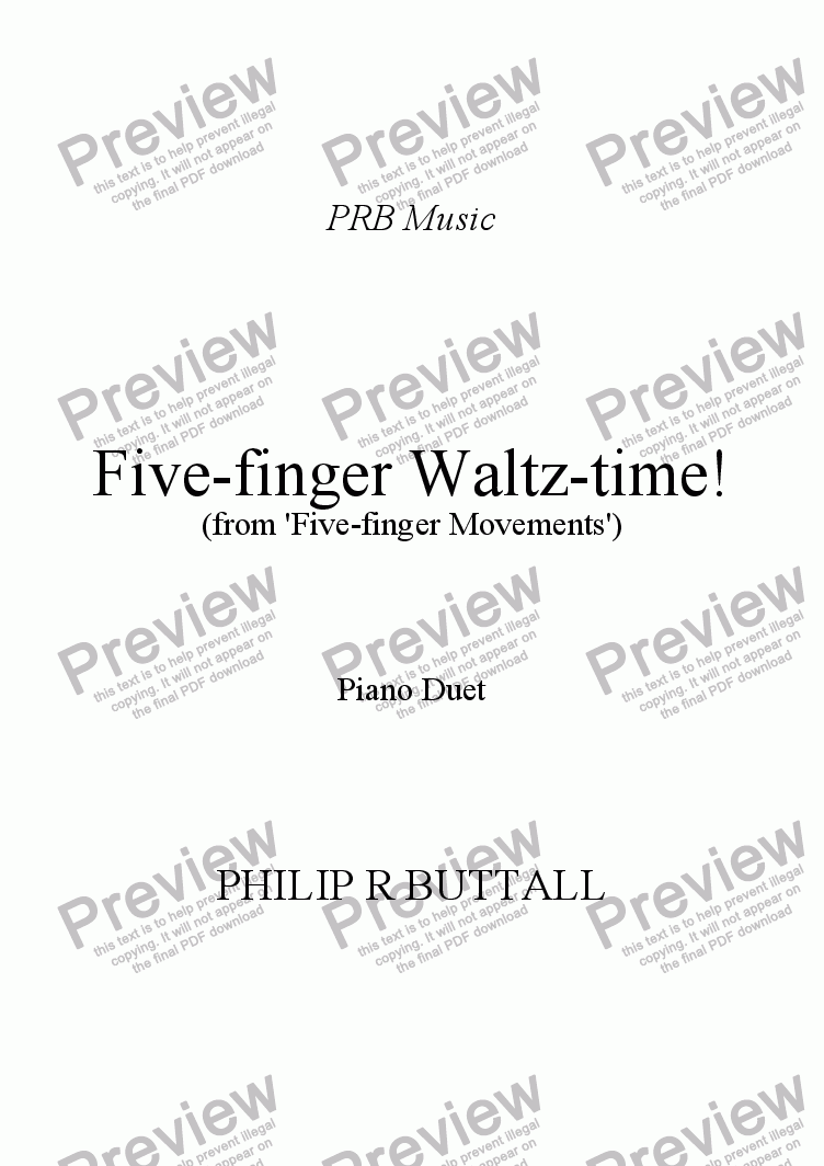 page one of Five-finger Waltz-time!ASALTTEXT