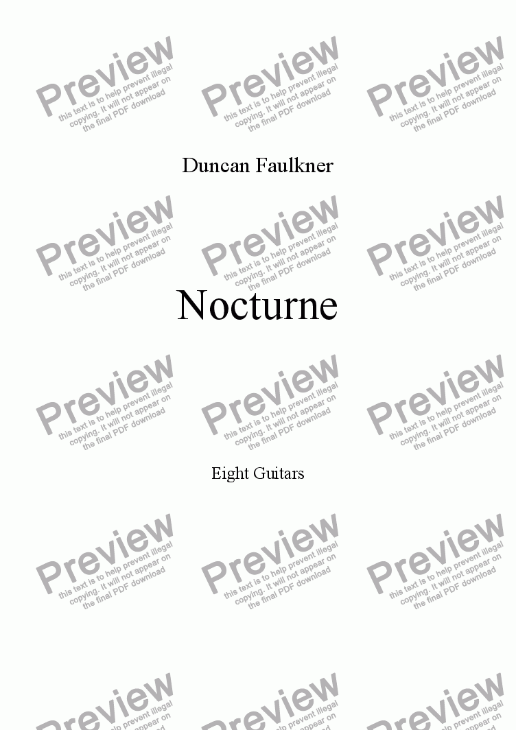 page one of Nocturne