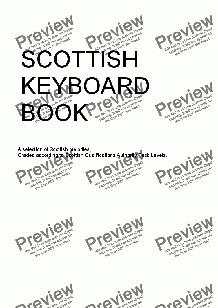 page one of SCOTTISH KEYBOARD BOOK