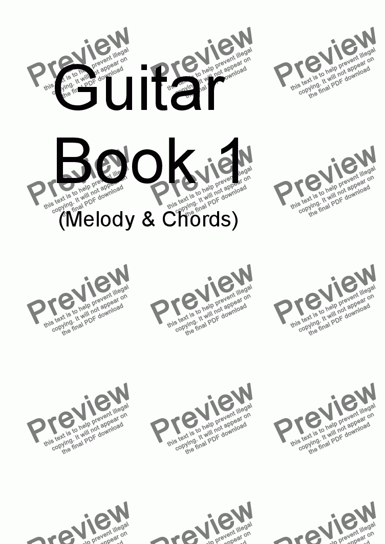 page one of GUITAR BOOK 1