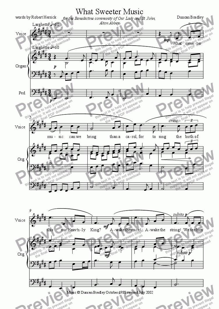 page one of What Sweeter MusicASALTTEXT