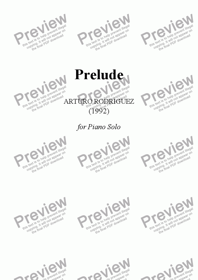 page one of Prelude
