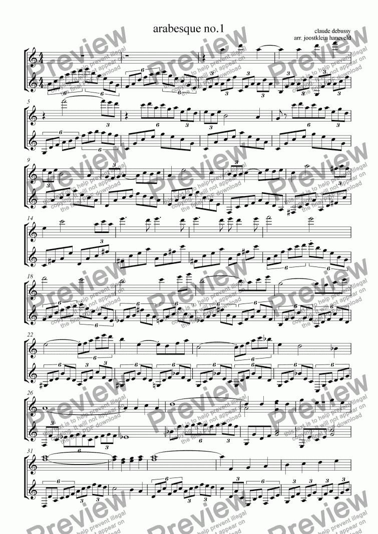 Debussy Arabesque 1 Pdf
