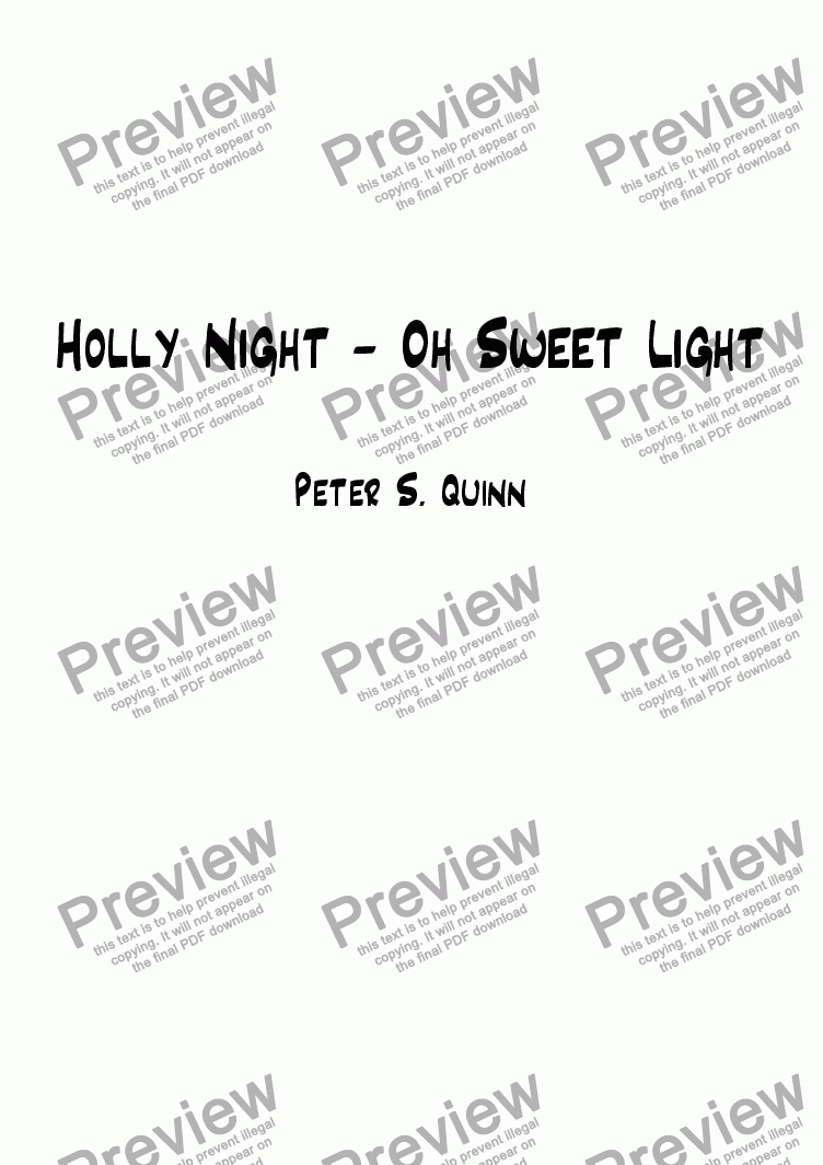 page one of Holly Night - Oh Sweet Light