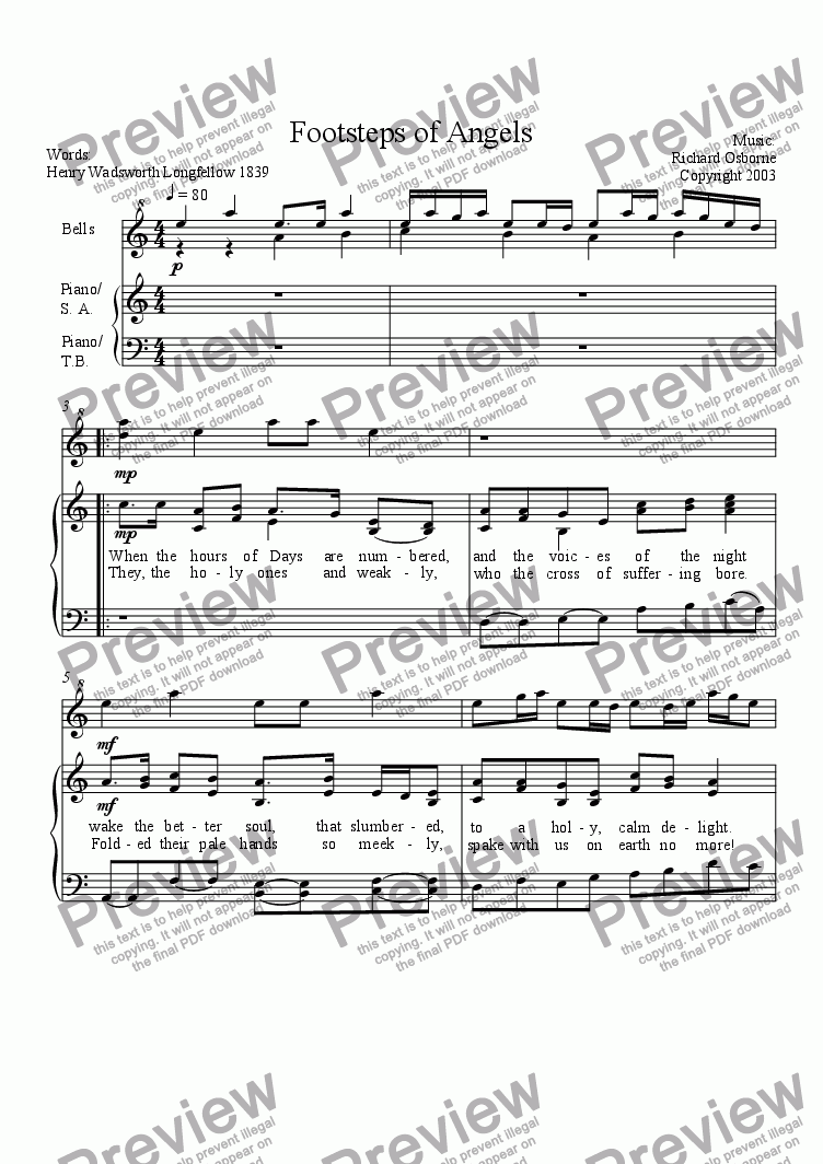 page one of Footsteps of Angels