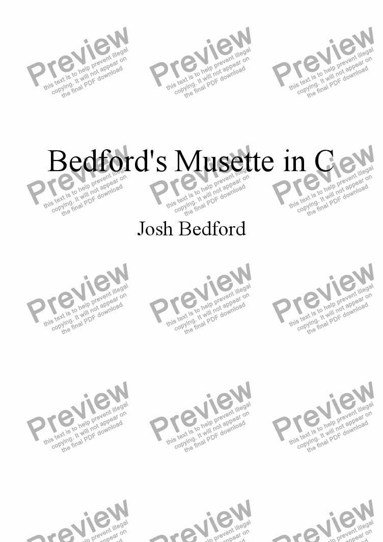 page one of Bedford's Musette in C