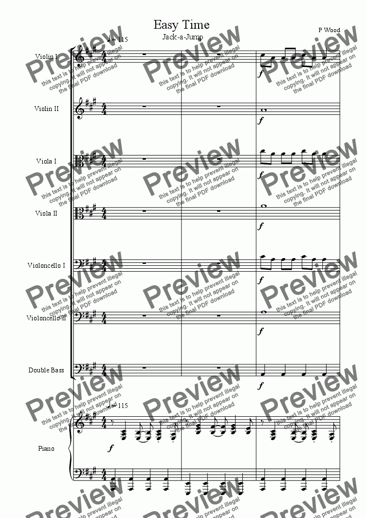 page one of Easy Time Suite for Beginner String Orchestra