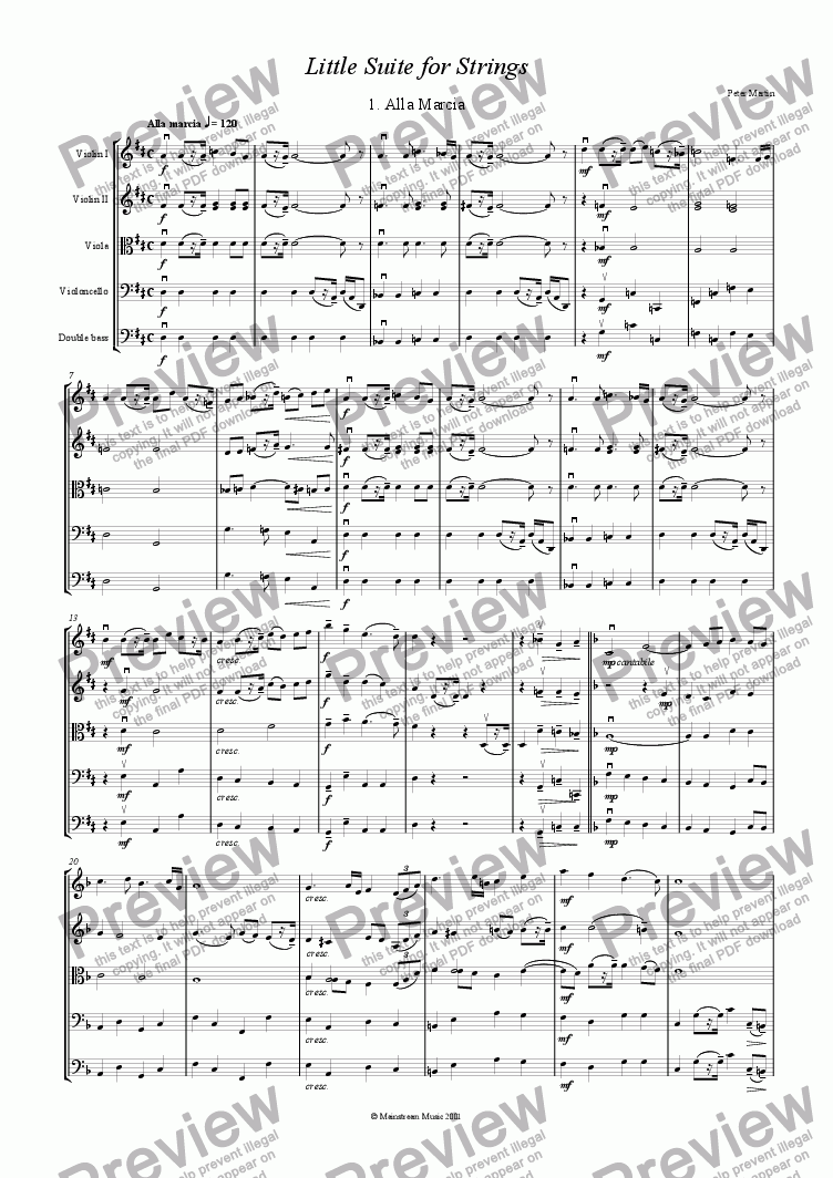 page one of Little Suite for Strings