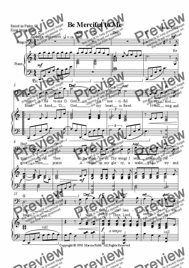 page one of Be Merciful to Me (bass version)ASALTTEXT