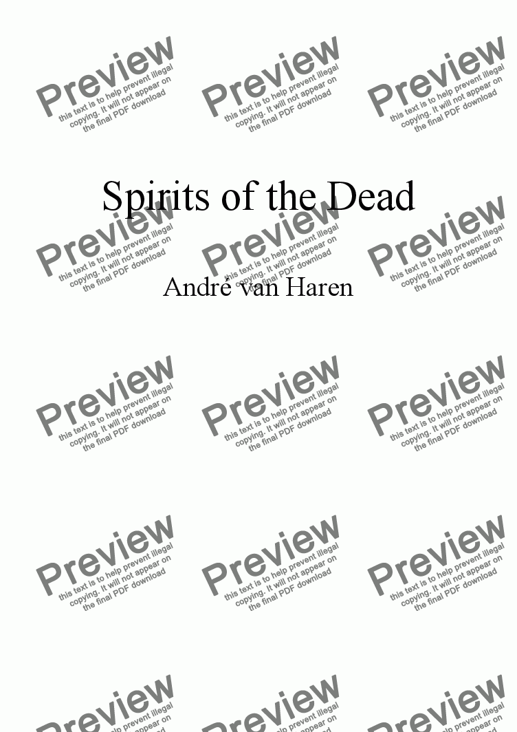 page one of Spirits of the Dead