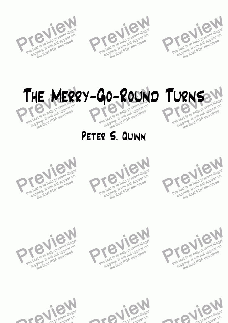 page one of The Merry-Go-Round Turns