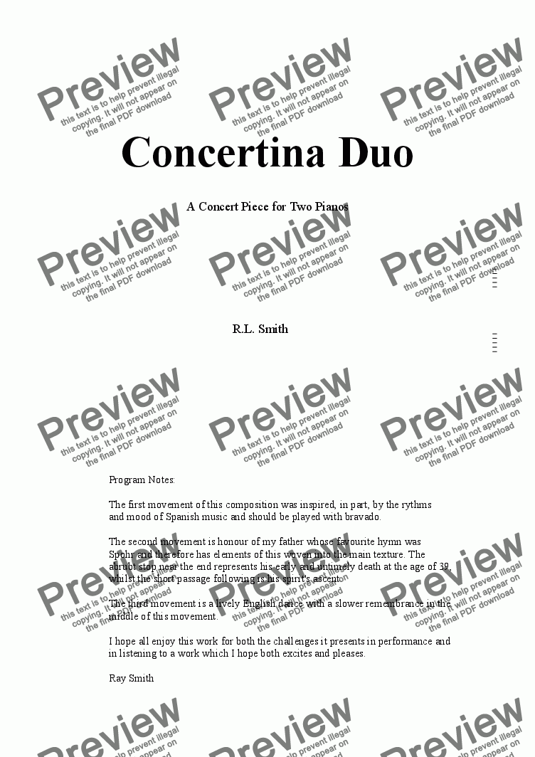 page one of Concertina Duo