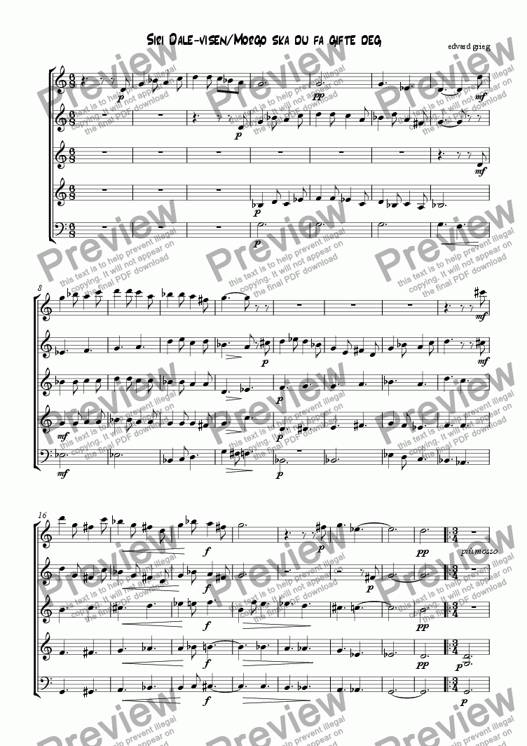 page one of 2 norwegian folk-songs (from op.66) by grieg