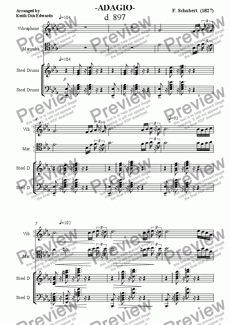 page one of ADAGIO, D897