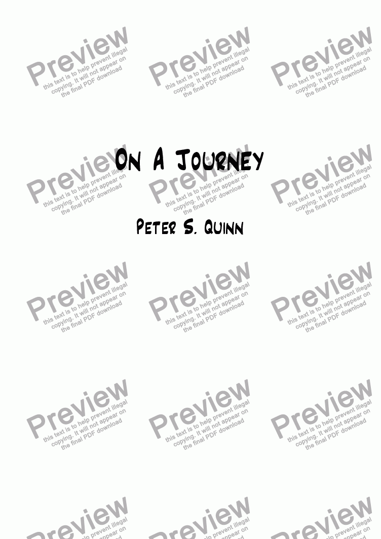 page one of On A Journey