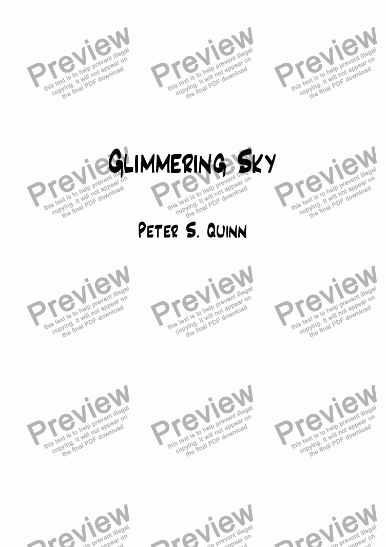 page one of Glimmering Sky