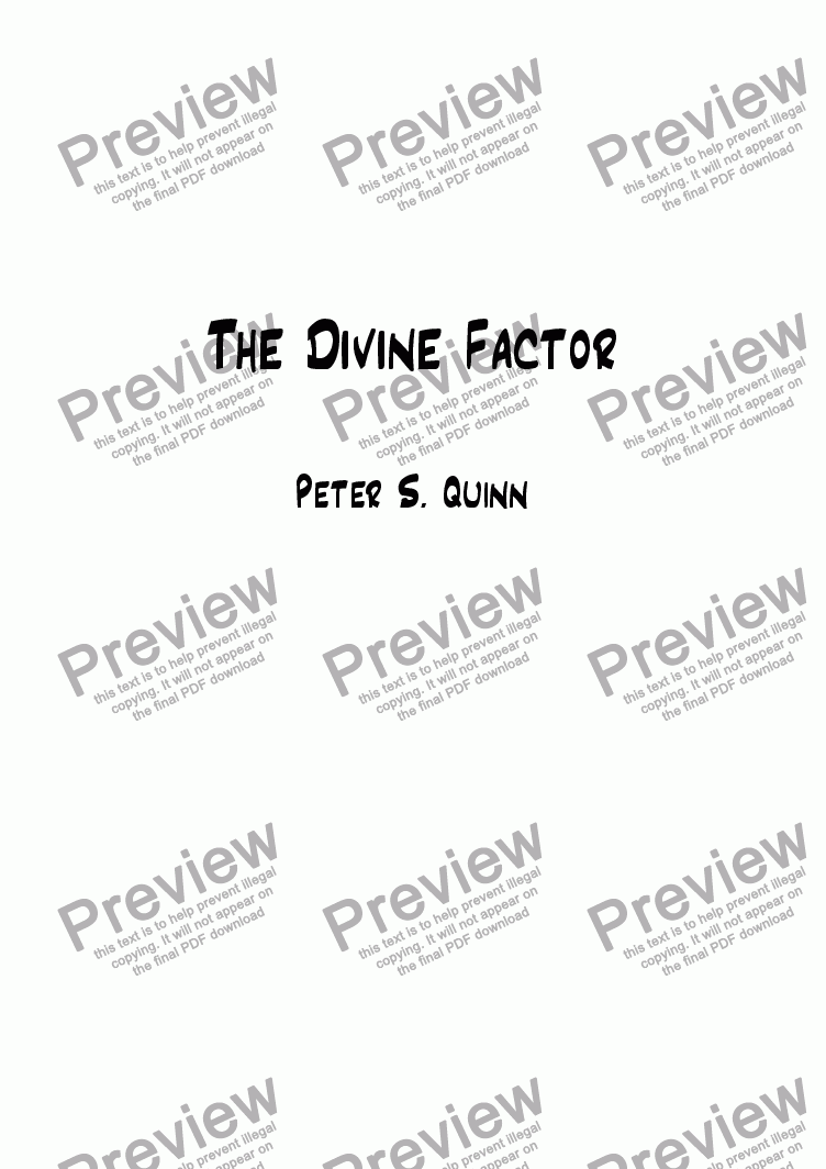 page one of The Divine Factor
