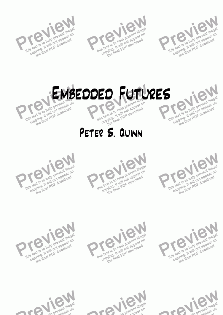 page one of Embedded Futures