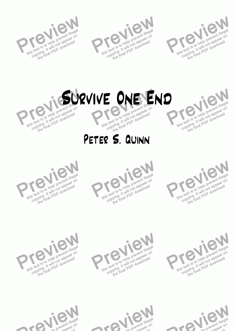 page one of Survive One EndASALTTEXT