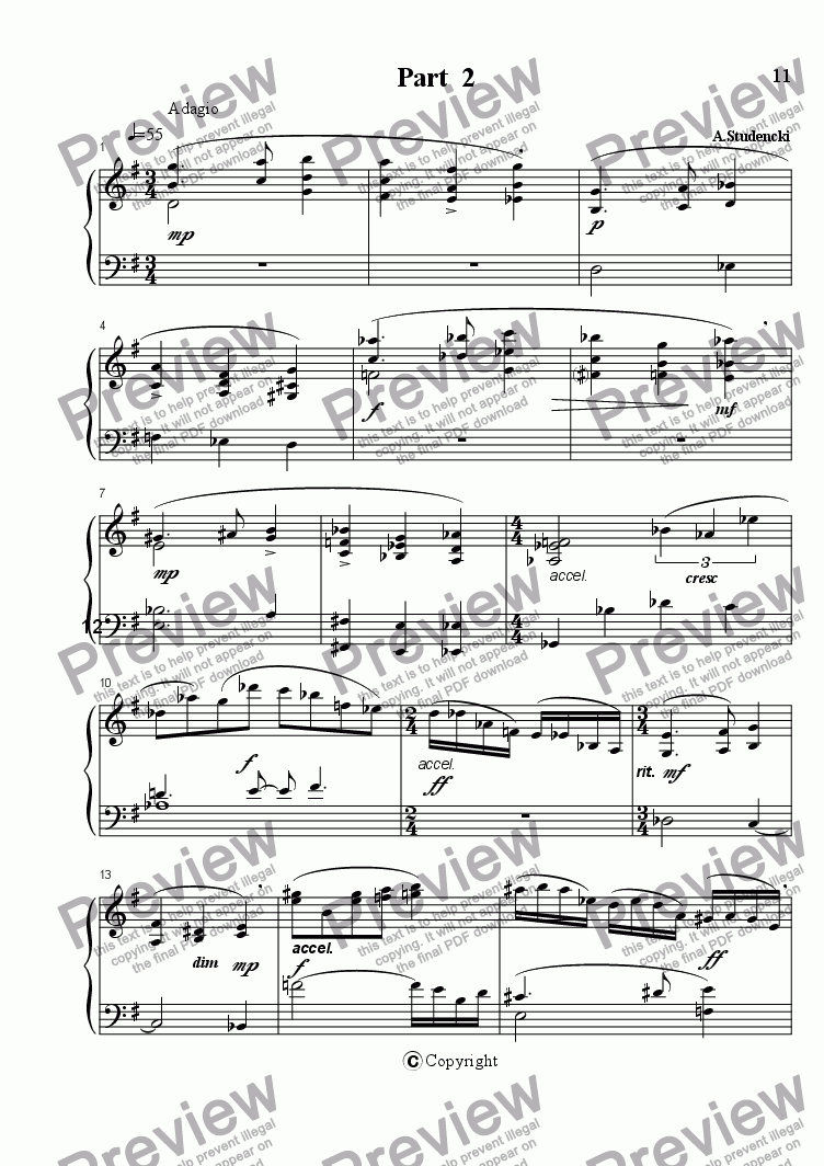 page one of Sonata part 2