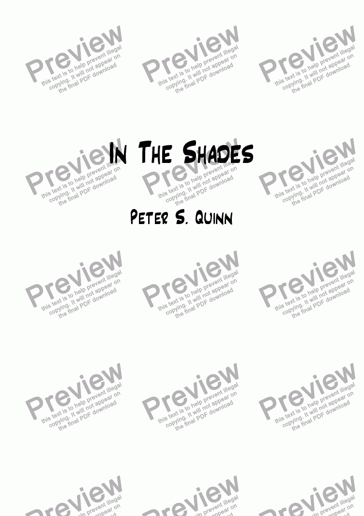 page one of In The Shades