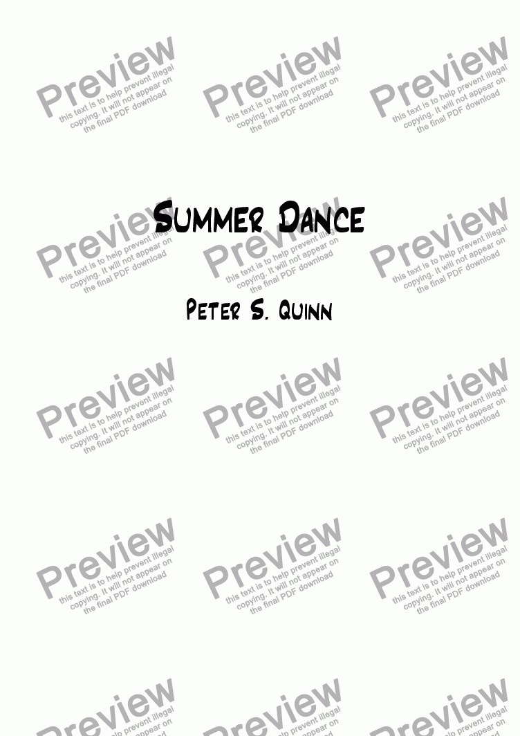 page one of Summer Dance