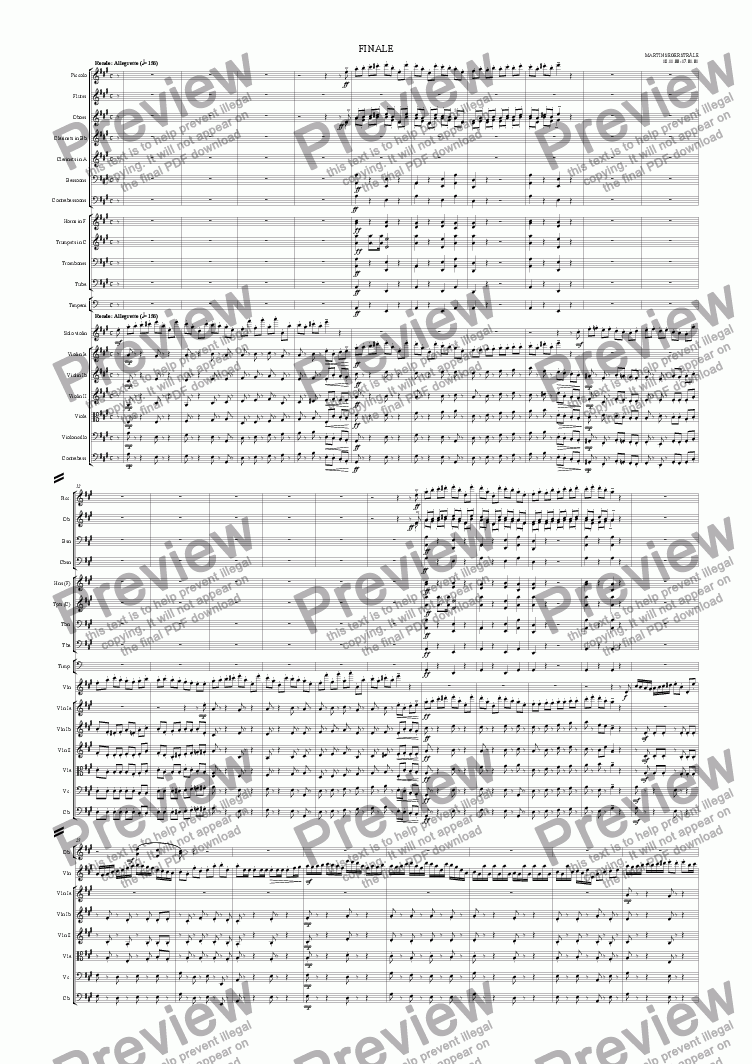 page one of Violin Concerto in A major - 3: Finale - Rondo: Allegretto