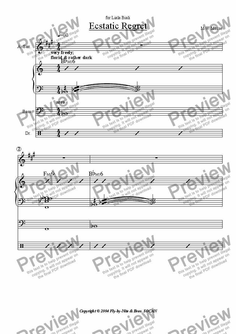page one of Ecstatic Regret [4-tet version]ASALTTEXT