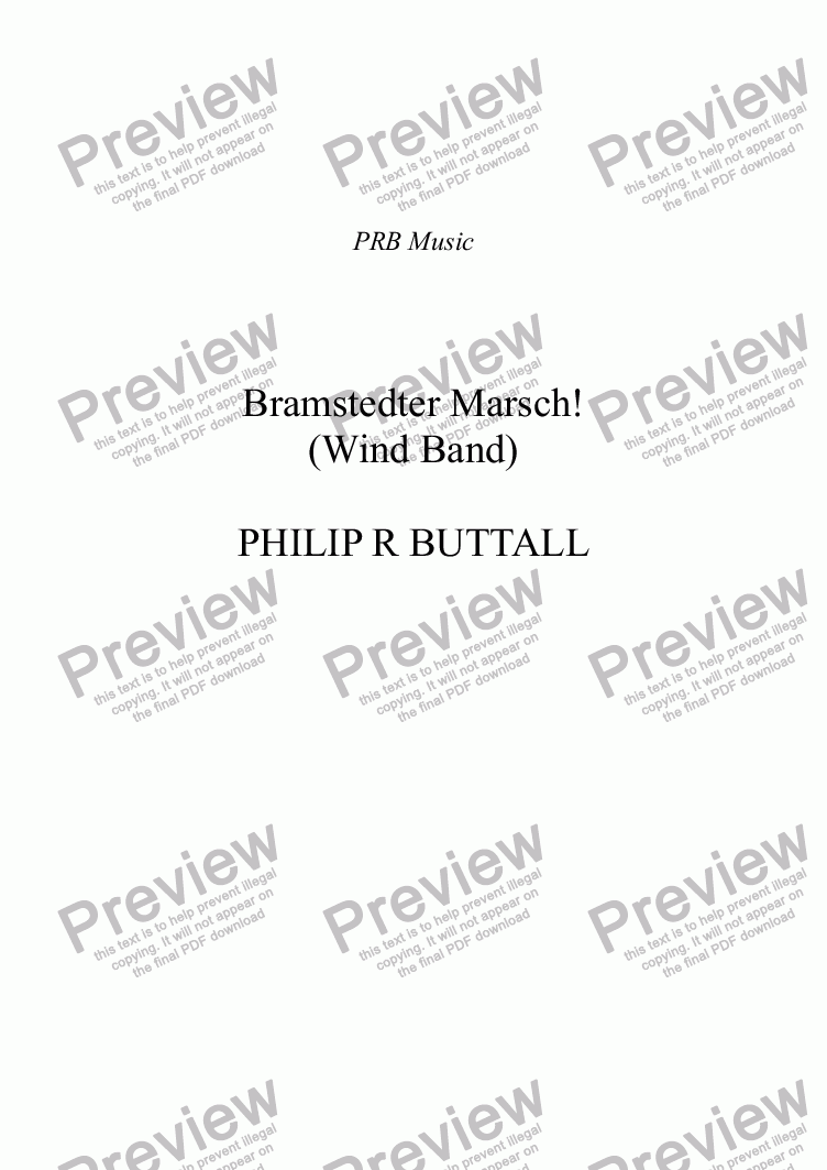 page one of Bramstedter Marsch! (Wind Band)ASALTTEXT