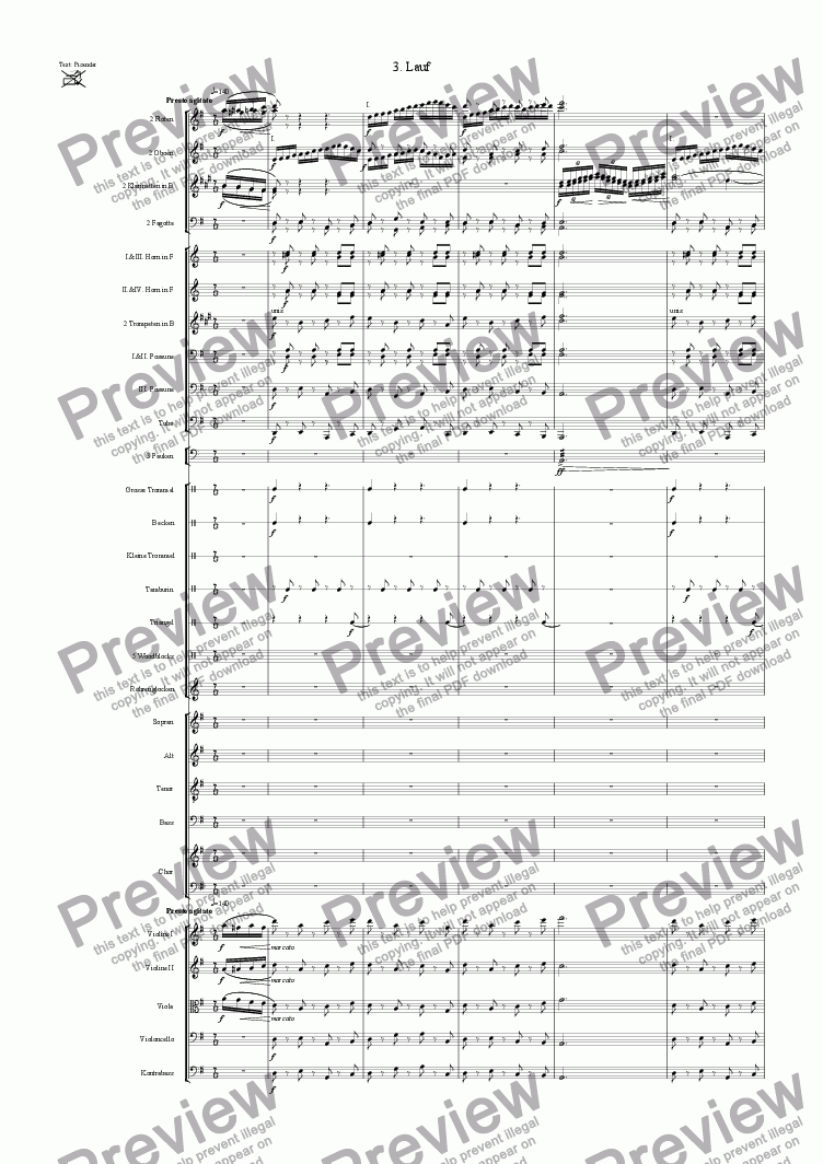 page one of Olympia (3rd Movement)