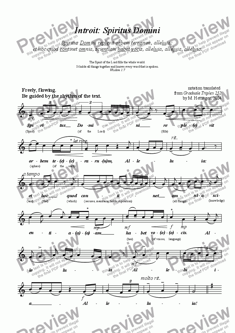 page one of Two Expressive Chants for Pentecost