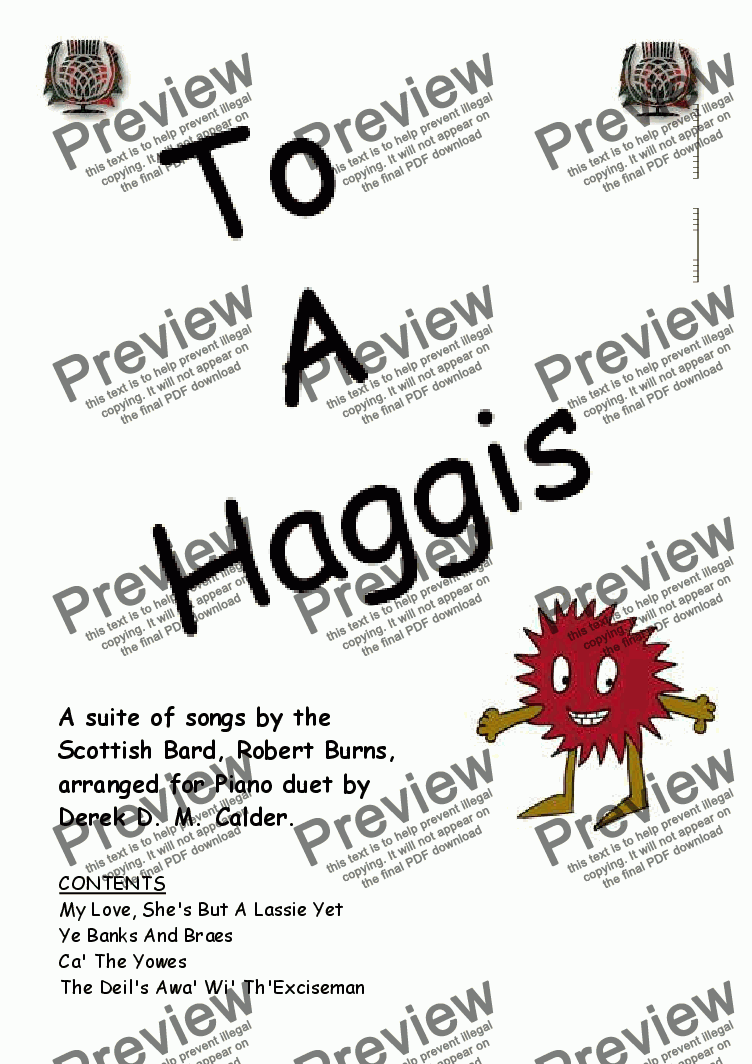 page one of TO A HAGGIS