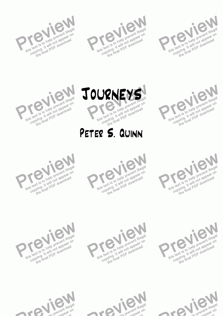 page one of Journeys