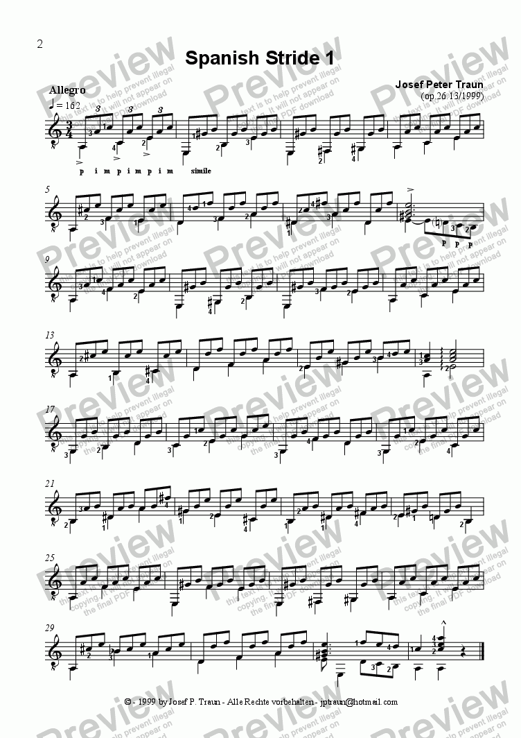 page one of Spanish Stride 1 + 2 (GS)