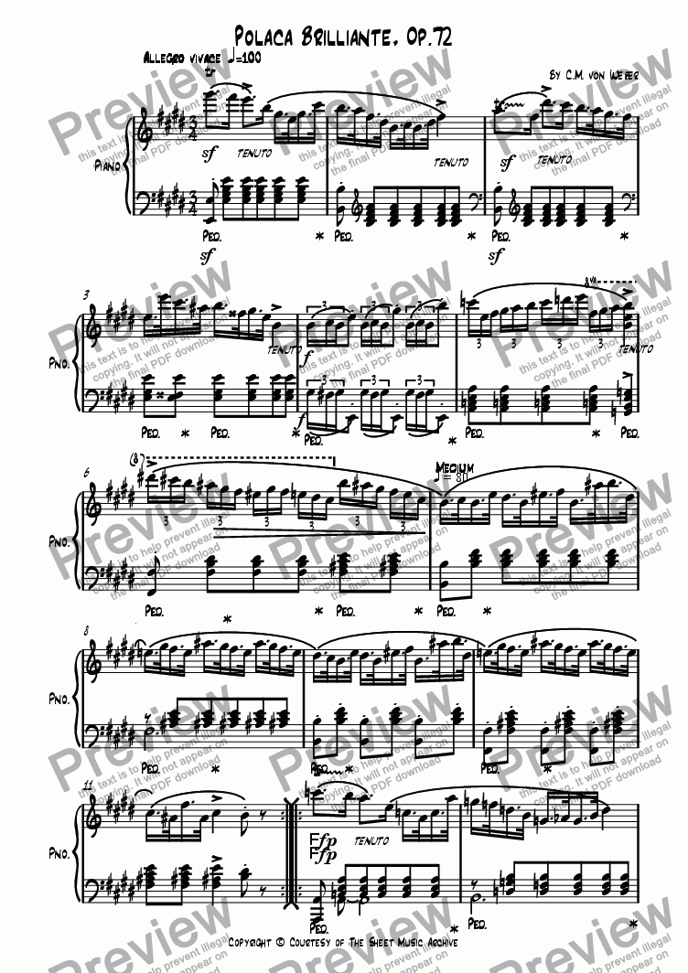page one of Polacca Brilliante, Op. 72