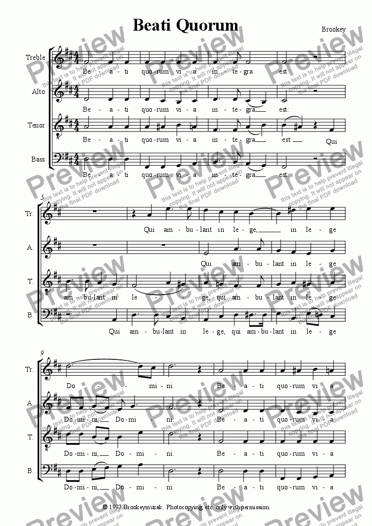 page one of Beati QuorumASALTTEXT