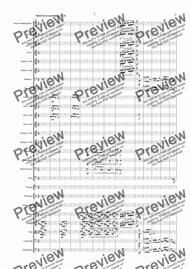 page one of Symphony No 01 2nd movementASALTTEXT