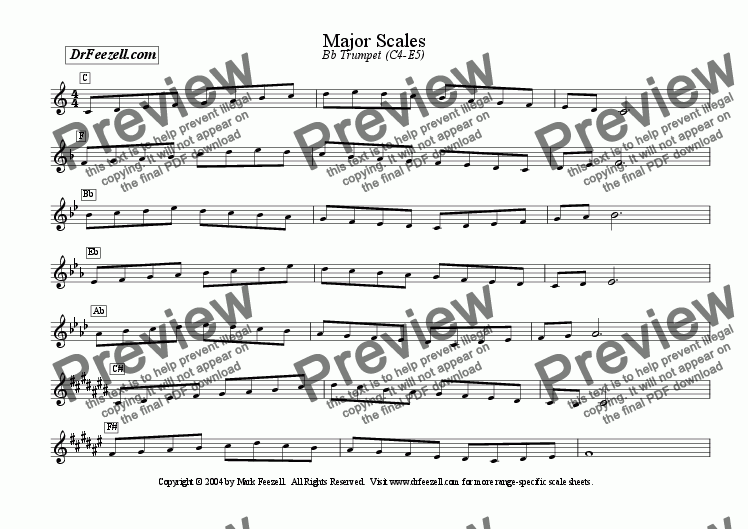 page one of Major/Minor Scales: Trumpet MULTIPACK