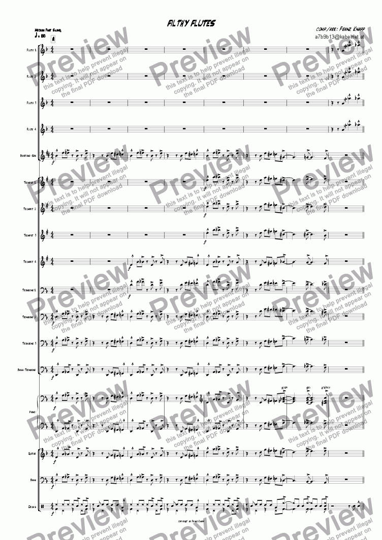 page one of Filthy Flutes