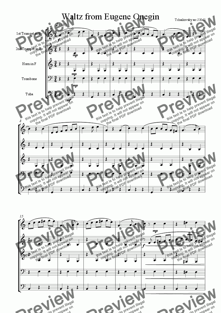 page one of Waltz from Eugene OneginASALTTEXT