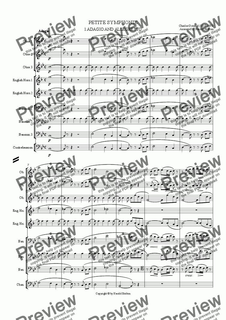 page one of Petite Symphonie
