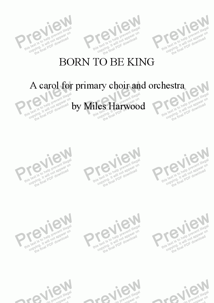 page one of Born to be King Op.6ASALTTEXT