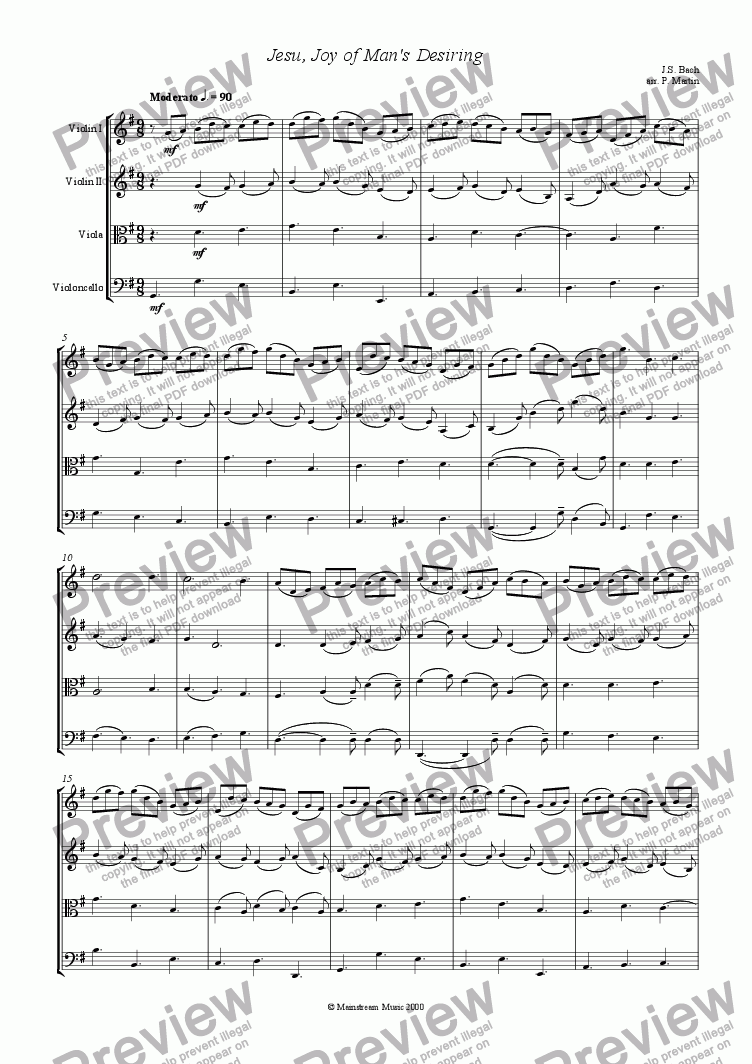 page one of Jesu, Joy of Man's Desiring
